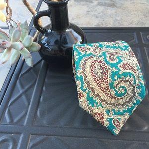 Burberry • Authentic Silk Paisley Print Tie